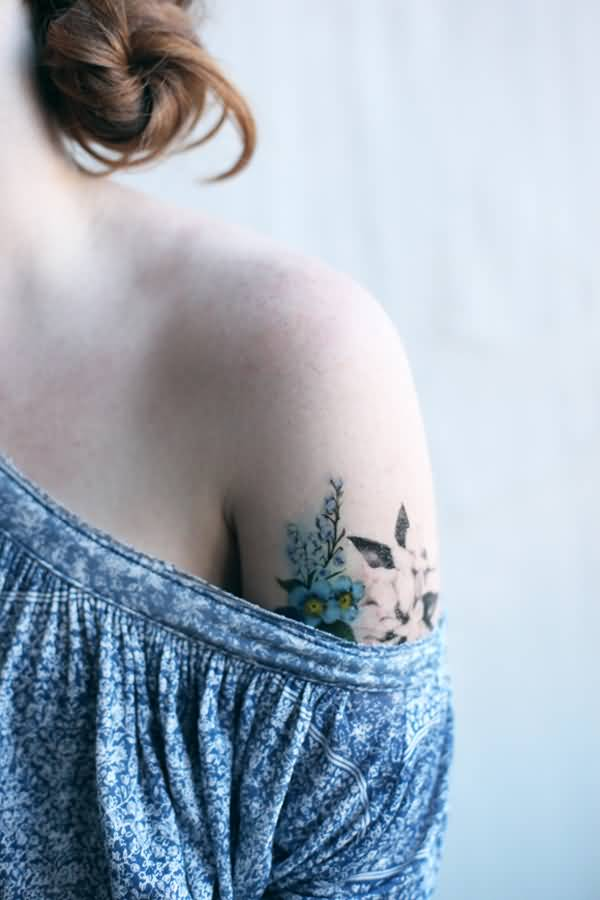 Awesome Floral Temporary Tattoos On Arm For Man Woman