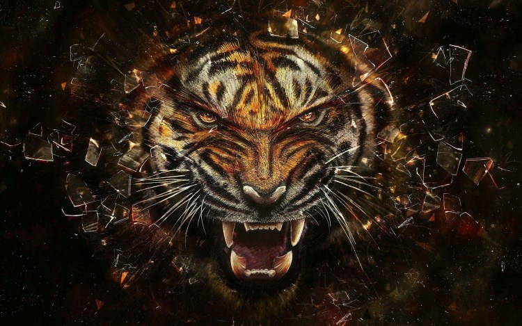 awesome-glass-breaking-lion-professionally-full-hd-wallpaper