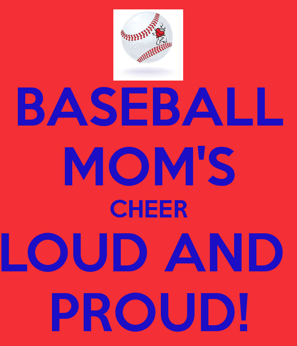 baseball mom's cheer loud and proud.