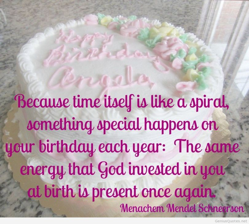 because time itself is like a spiral, something special happens on your birthday each year; the some energy that god invested in you at birth is persent once again. menachem men