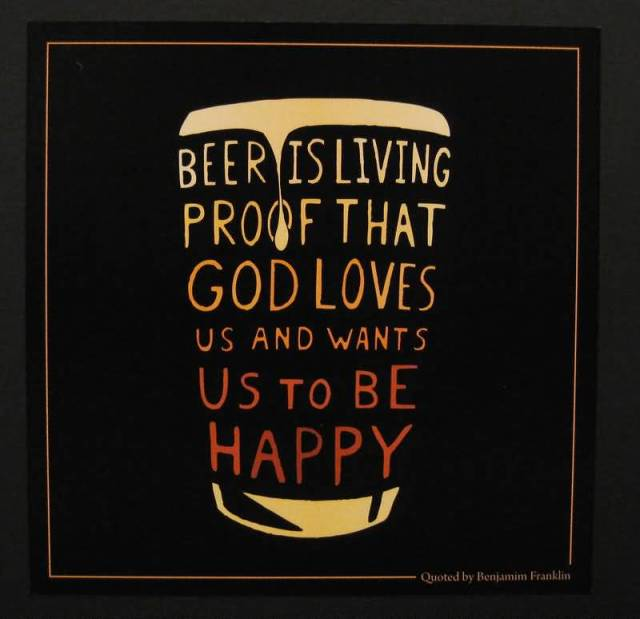 Beer Isliving Proof That God Loves Us And Wants Us To Be Happy