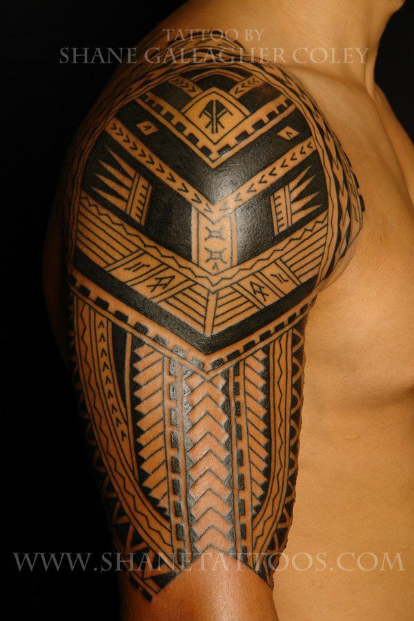 Best Sleeve Samoan Tattoo For Men With Black Ink For Man Woman