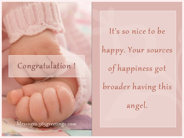 Congratulation Its So Nice To Be Happy Your Sources Of Happiness Got Broader Having This Angel
