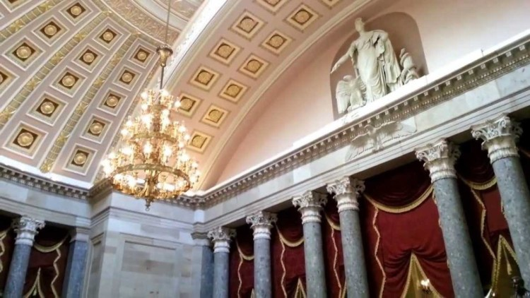 Creative View Inside The United States Capitol And Beautiful Columns