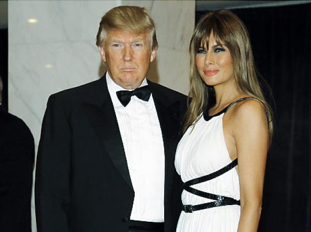 Donald Trump With Wife Malenia In White