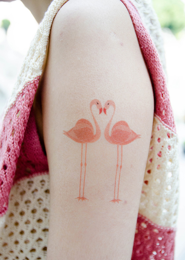 Eye Catching Crane Temporary Tattoos For Man Woman