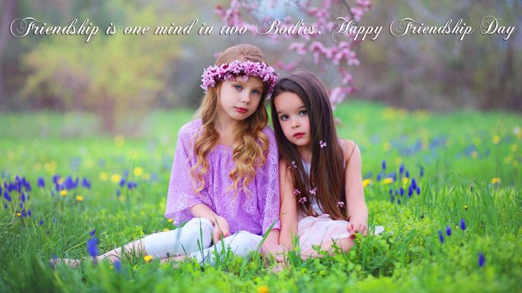 friendship is one mind in two bodies. happy friendship day
