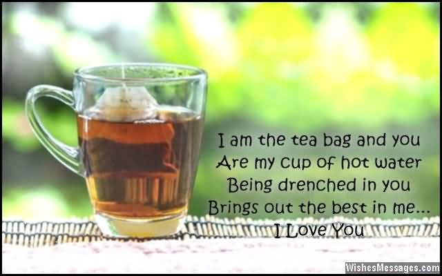 I Am The Tea Bag And You Are My Cup Of Hot Water Being Drenched In You Brings Out The Best In Me I Love You