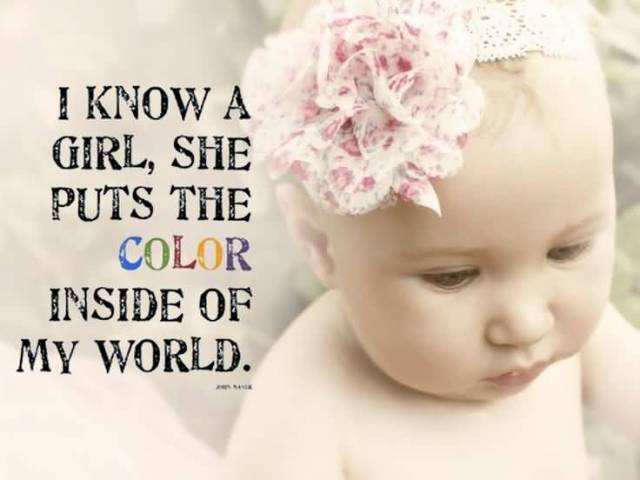 I Know A Girl The Puts The Color Inside Of My World