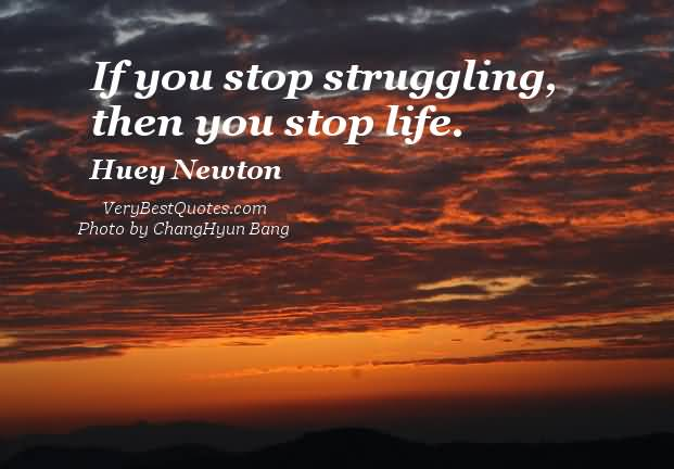 If You Stop Struggling Then You Stop Life Huey Newton