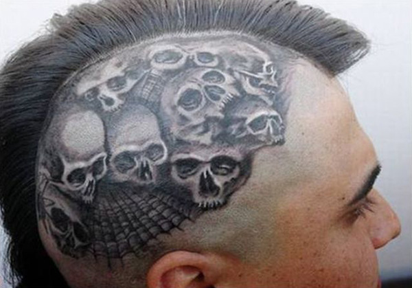 incredible Cool head tattoos With Black ink For Man And Woman