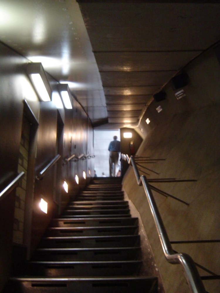 Incredible Stairs Inside The Gateway Arch With Light View