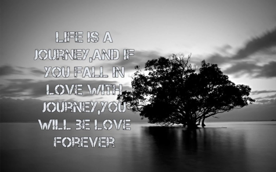 Life Is A Journey And If You Fall In Love With Journey You Will Be Love Forever