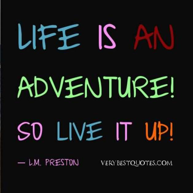Life Is An Adventure So Live It Up L M Preston