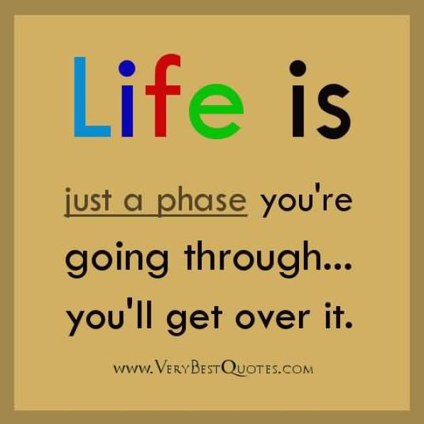 Life Is Just A Phase You Re Going Through You Ll Get Over It