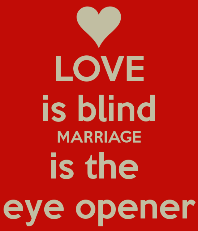 Love Is Blind Marriage Is The Eye Opener