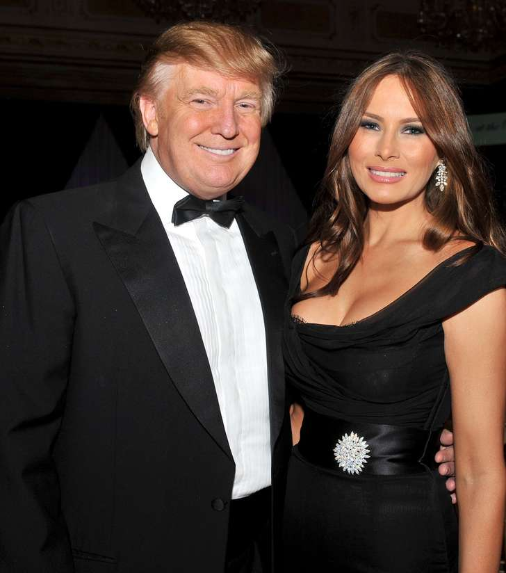 Melania Donald Both In Black