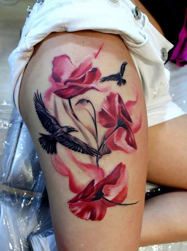 Most Amazing Thigh Tattoos For Women Women Tattoo