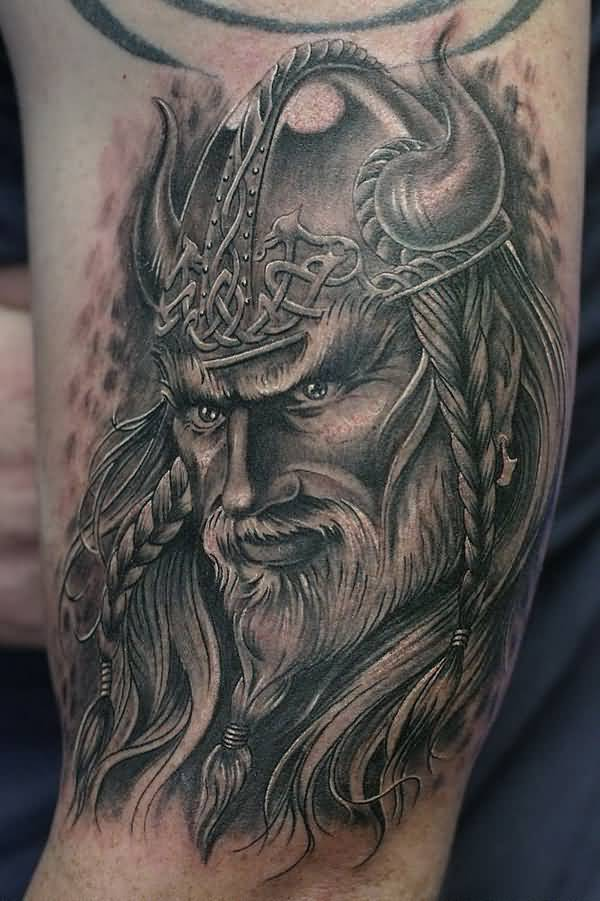 Most Amazing Warrior Tattoo On Hand With Black Ink For Women And Man
