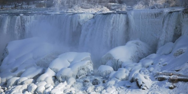 Most Beautiful Wallpaper Of The Niagara Falls Frozen With Winter