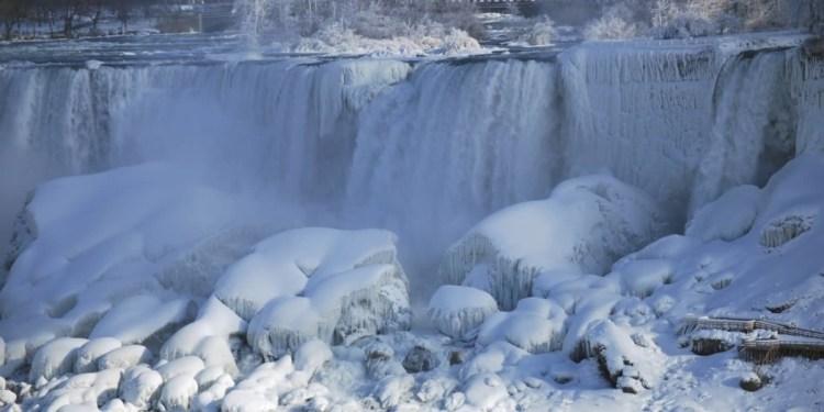 Most Beautiful Wallpaper Of The Niagara Falls Frozen With Winter