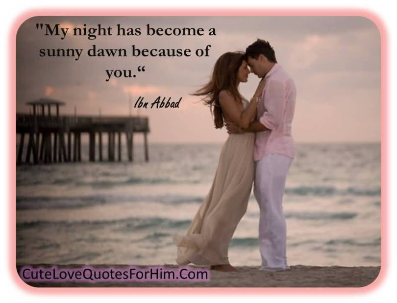 My Night Has Become A Sunny Dawn Because Of You Lbn Addad