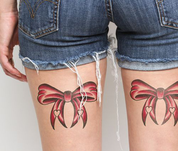 New Bow Temporary Tattoos For Man Woman