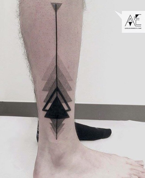 Phenomenal Calf Tattoo With Black Ink For Man Woman