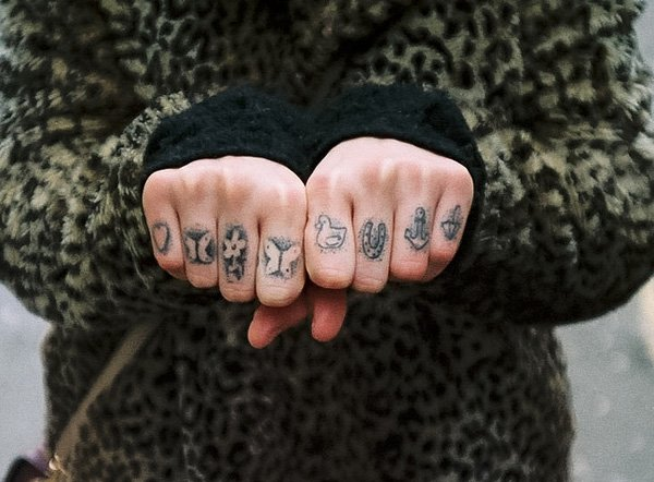 Unique Finger Tattoos With Black Ink For Man And Woman