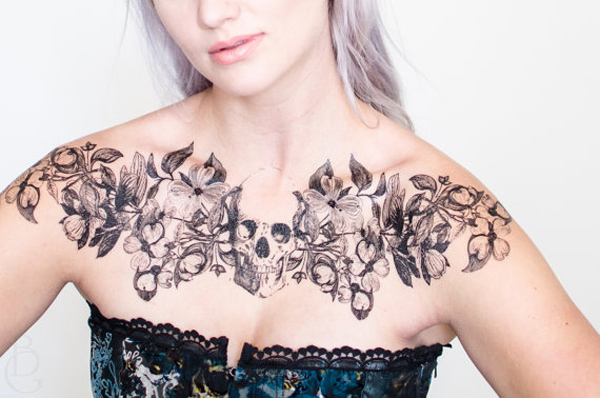Realistic Chest Temporary Tattoos For Man Woman