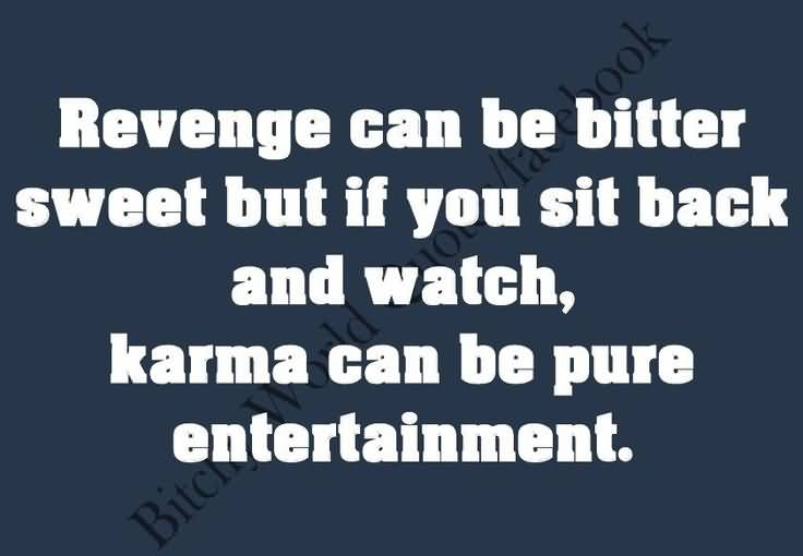 Revenge Can Be Bitter Sweet But If You Sit Back And Watch Karma Can Be Pure Entertainment