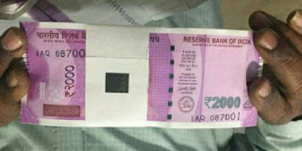 Rs 2000 Bundle Of New Indian Currency