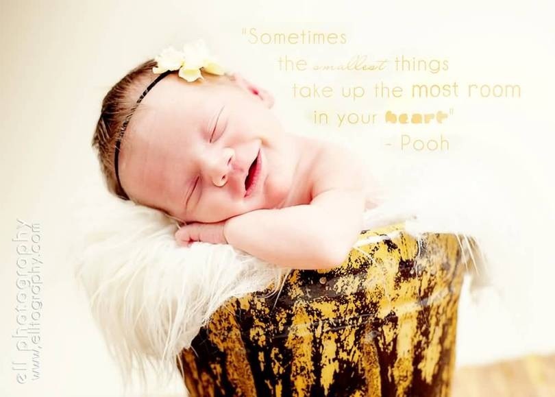 Sometimes The Smallest Things Take Up The Most Room In Your Heart Pooh New Born Baby Boy Quotes