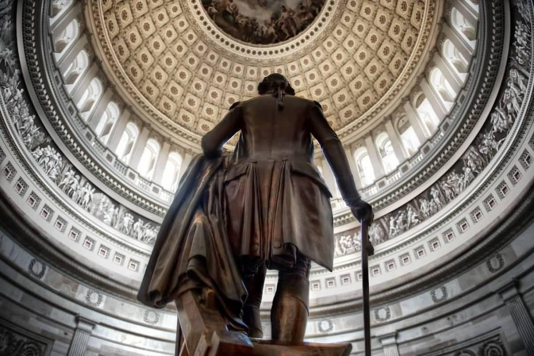 Superb Backside Of Statue Of George Washington Inside The United States Capitol Photo