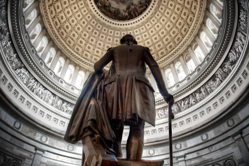 Superb Backside Of Statue Of George Washington Inside The United States Capitol Photo