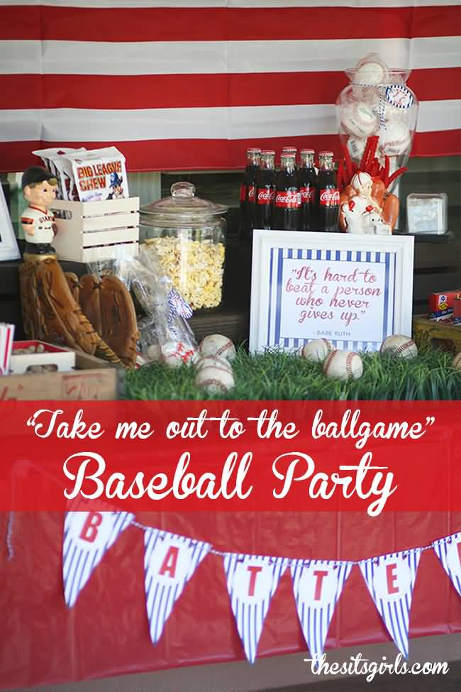 Take Me Out To The Ballgame Baseball Party