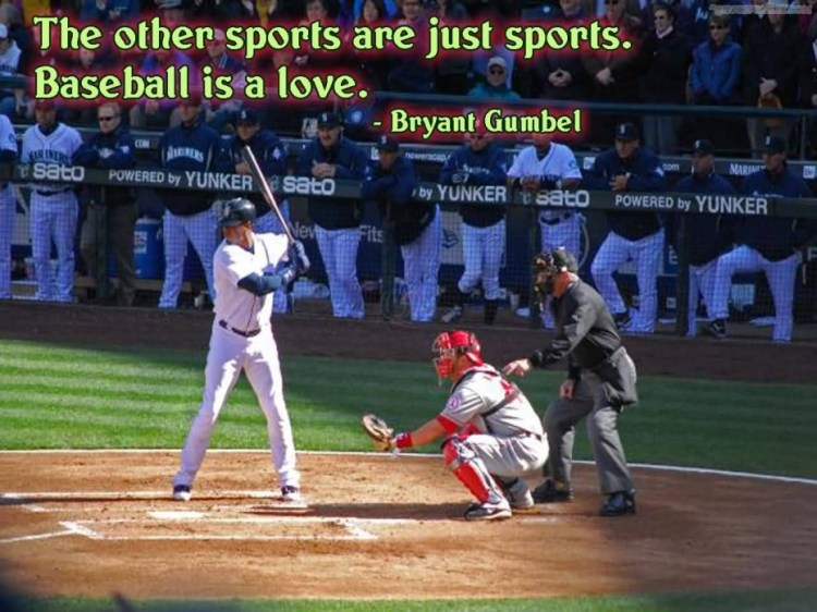 The Other Sports Are Just Soprots Baseball Is A Love Bryant Gumbel