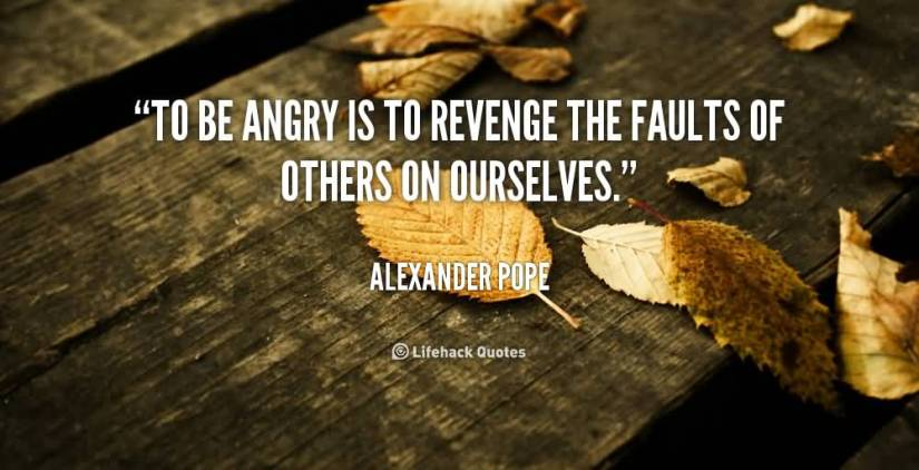 To Be Angry Is To Revenge The Faults Of Others On Ourselves Alexander Pope