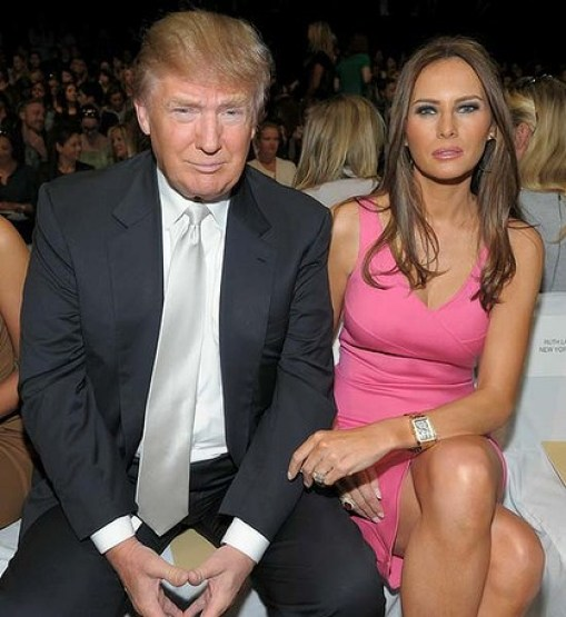 Trump With Bautiful Wife In Pink Looks Great