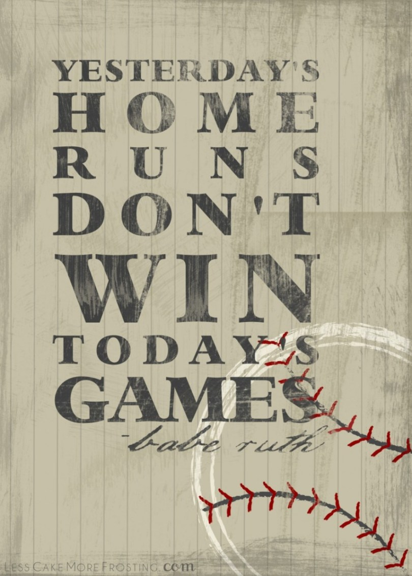 Yesterday S Home Runs Dont Win Todays Games