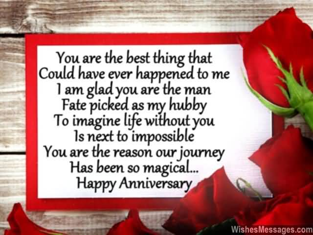 You Are The Best Thing That Could Have Ever Happened To Me I Am Glad You Are The Man Fate Picked As My Hubby To Imagine Life Without You Is Next To Impossible