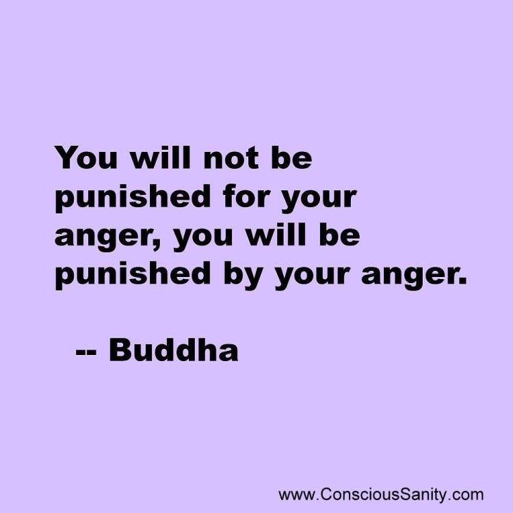 You Will Not Be Punished For Your Anger You Will Be Punished By Your Angerbuddha