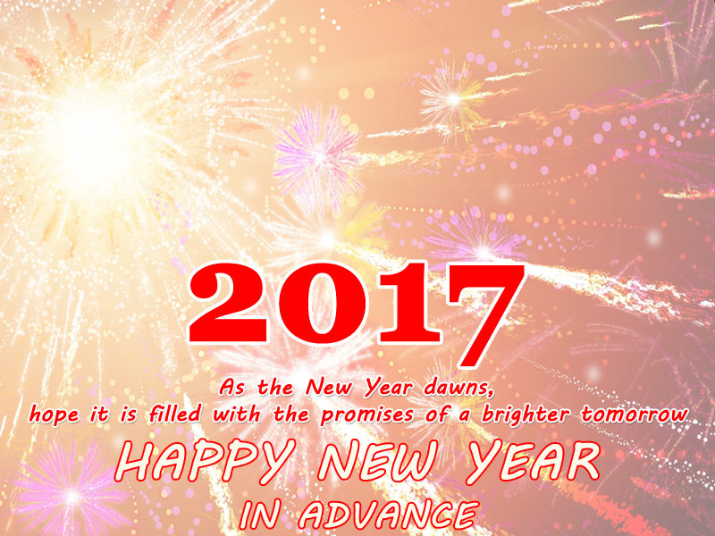 2017 As The New Year Happy New Year In Advance Wishes Image