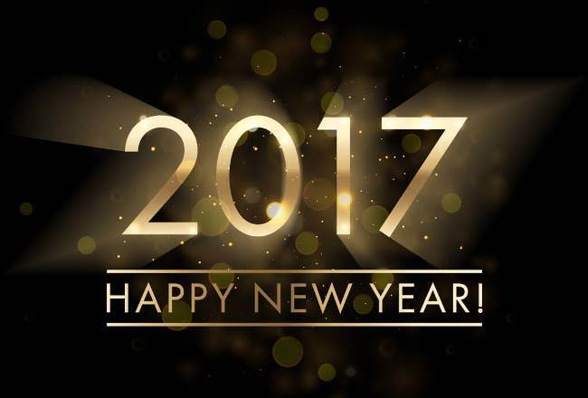 2017 Happy New Year Best Wishes Wallpaper