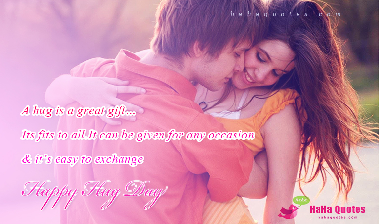 A Great Wishes To My Love Happy Hug Day Quotes Image