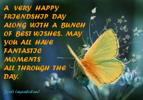 A Very Happy Friendship Day Greetings Quotes Image