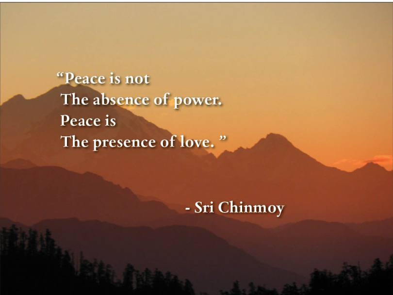 Absence Sayings Peace is not the