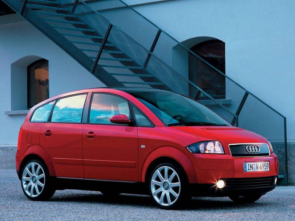 red Audi A2 Car