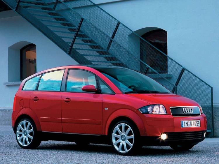 Amazing red Audi A2 Car