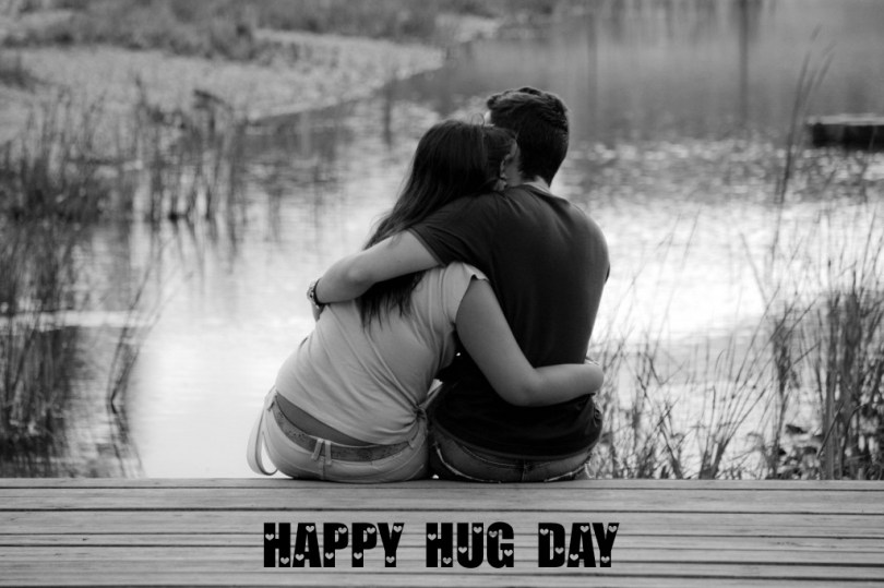 Awesome Hug Day For My Lover Wallpaper